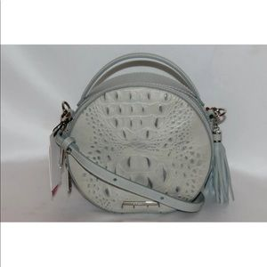 New! Brahmin ocean croc leather canteen shoulder
